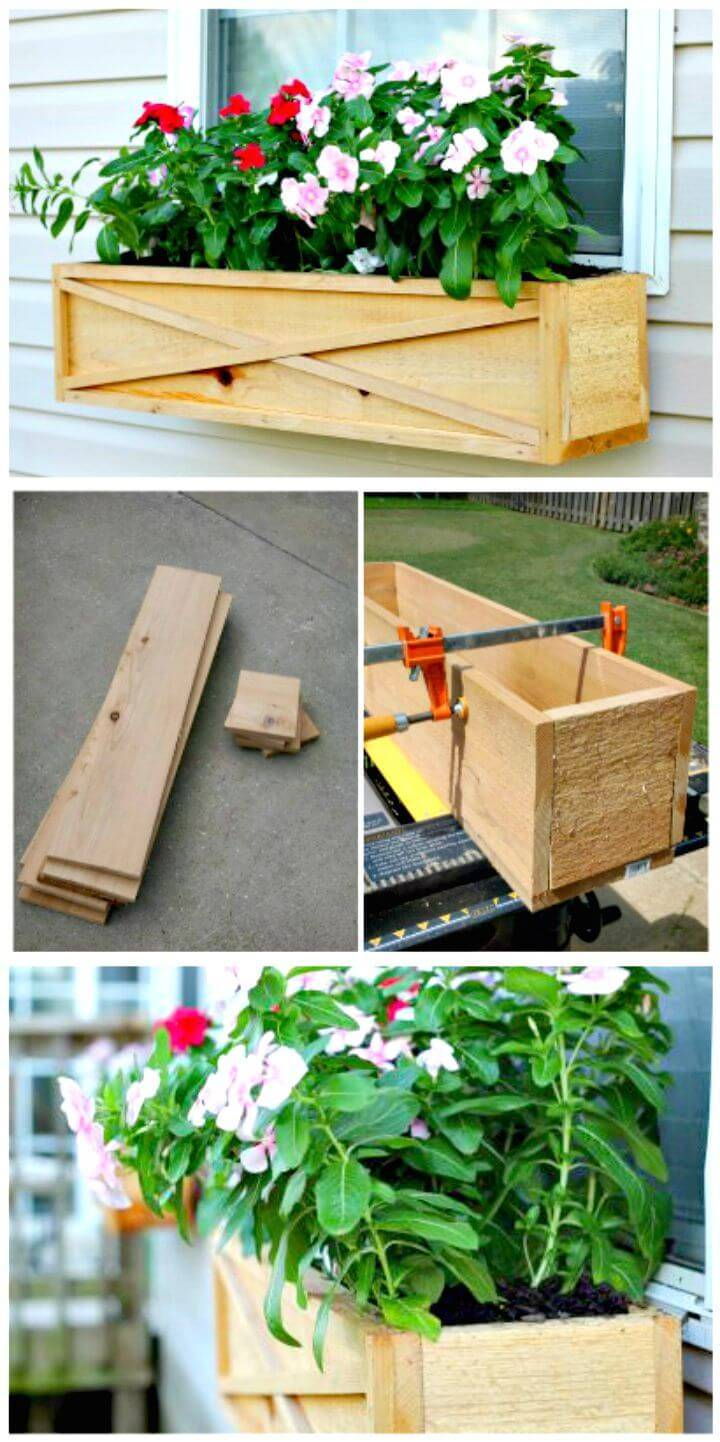 How to Build a Cedar Window Box Planter Tutorial