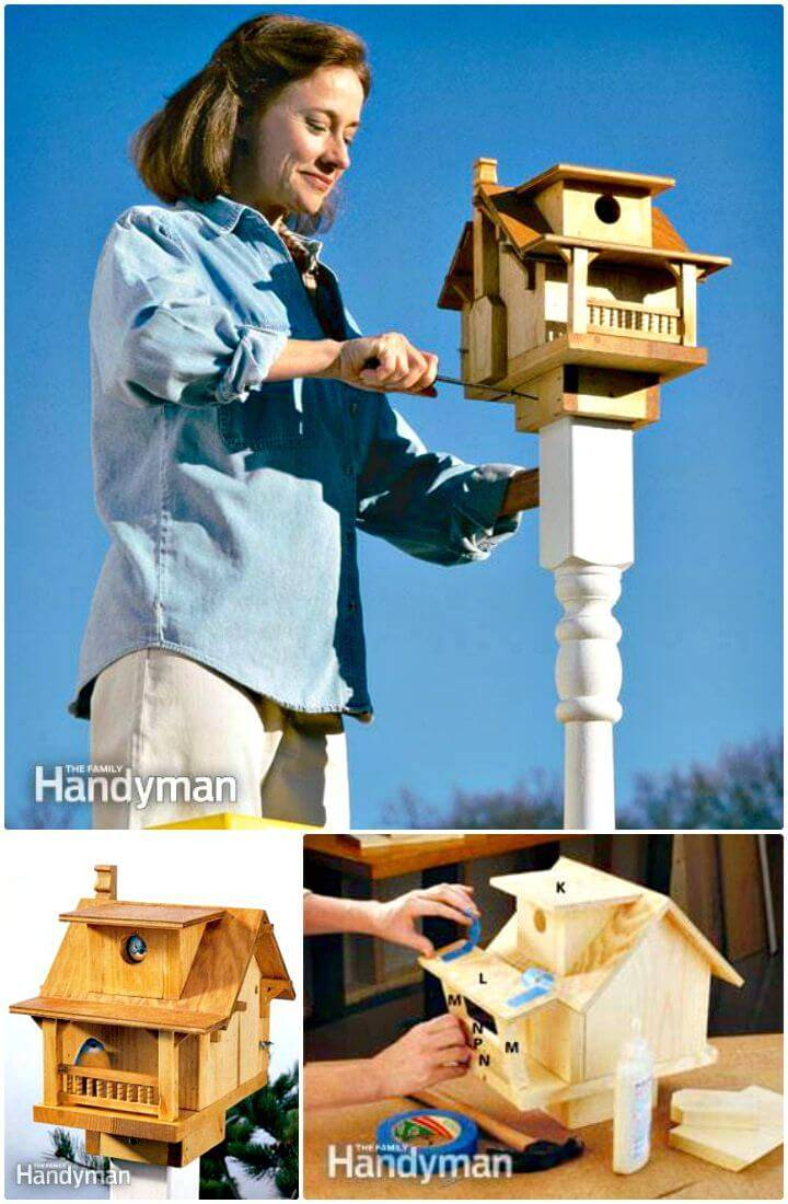 Easy How to Build a Cute Birdhouse Tutorial