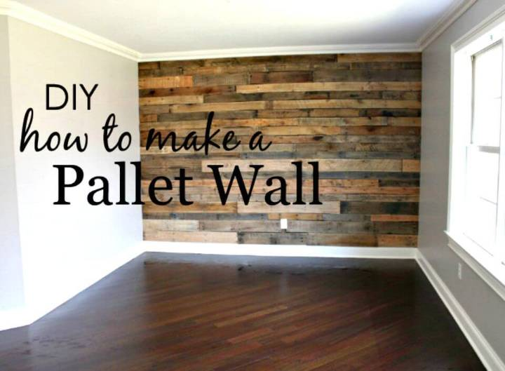 How to Build a Pallet Wall - DIY