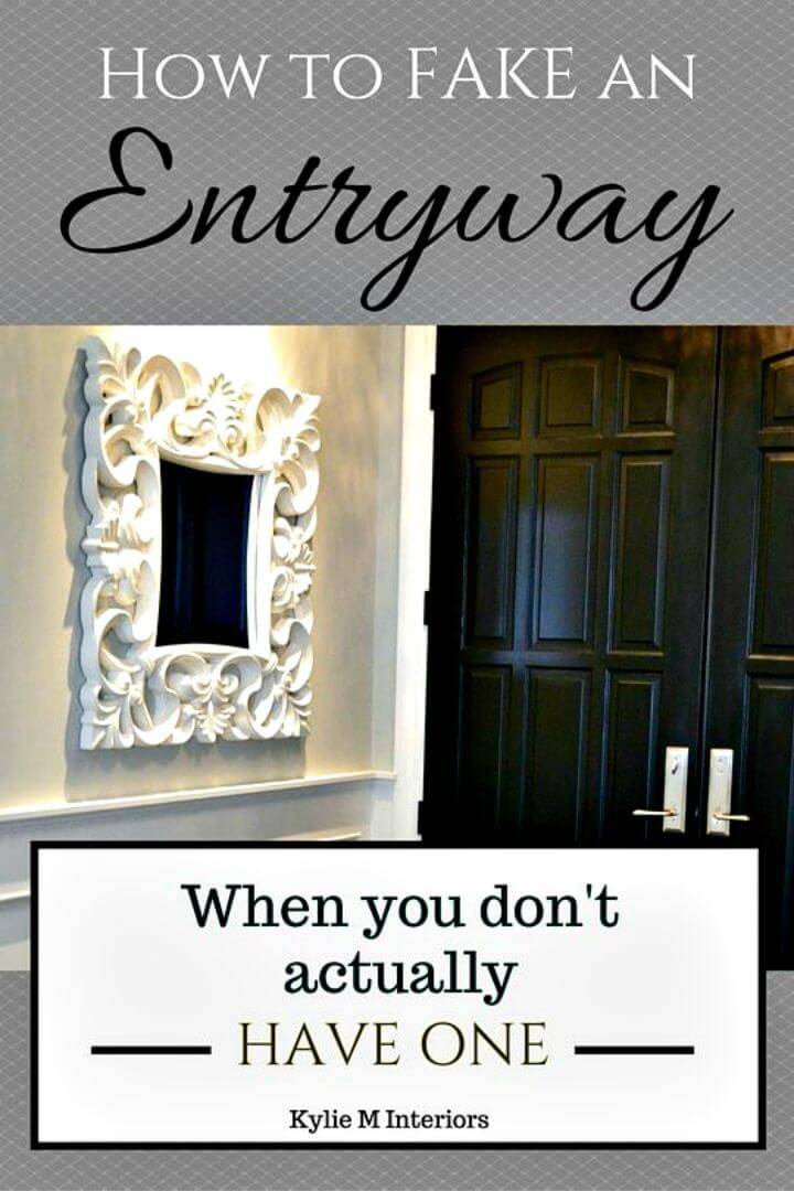 How to Create a Fake Entryway Foyer Tutorial