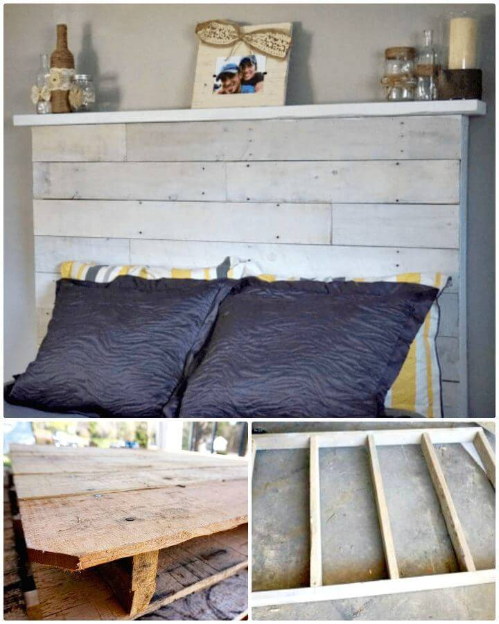 Easy How to Make Your Own Pallet Headboard - DIY