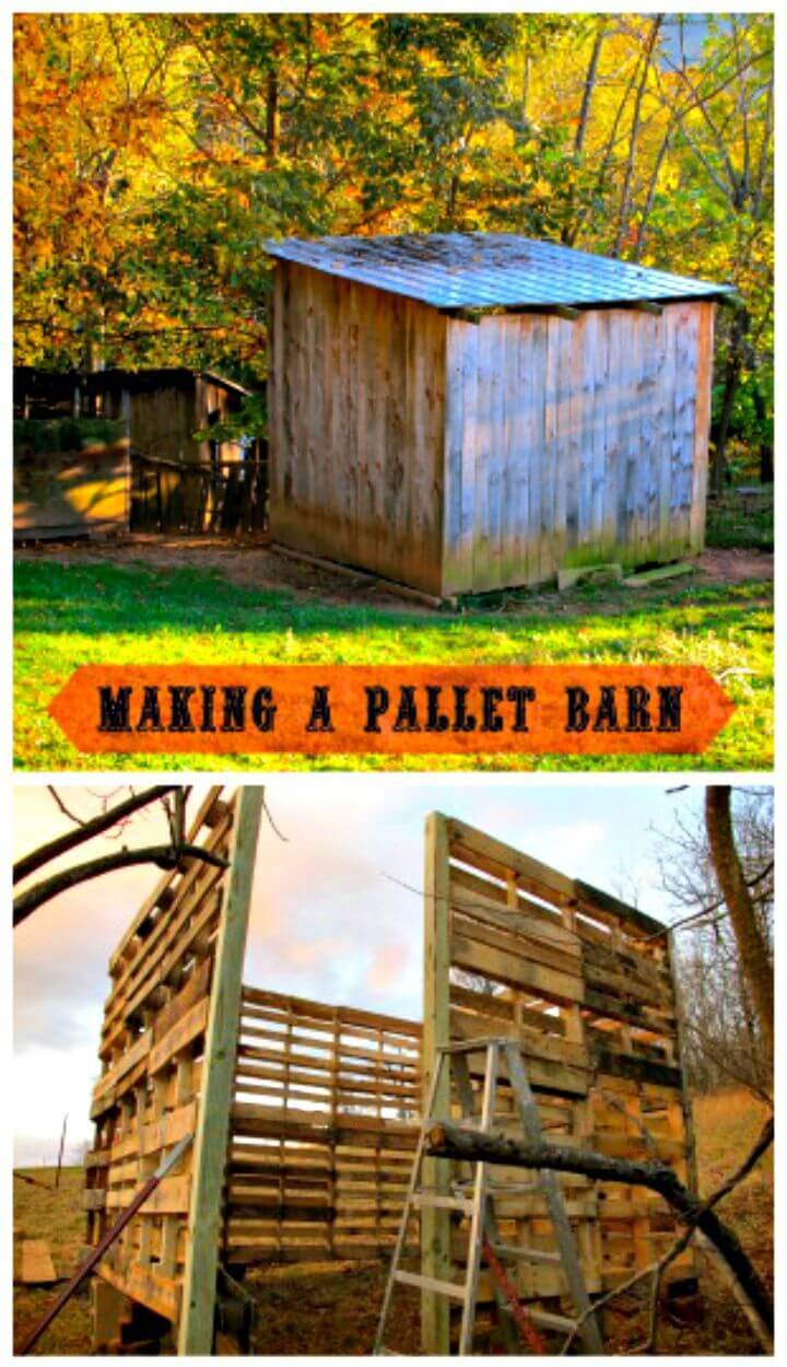 Easy DIY Pallet Barn Step by Step Tutorial