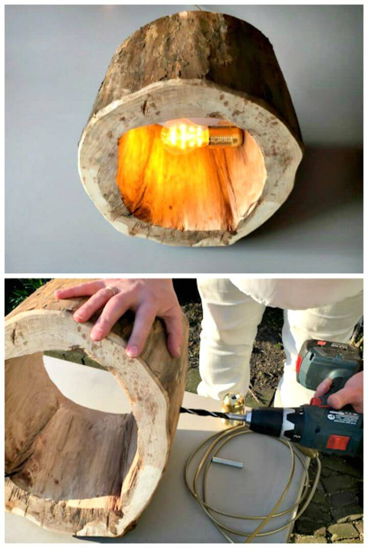 Easy How to Make a Spectacular Stump Floor Lamp Tutorial