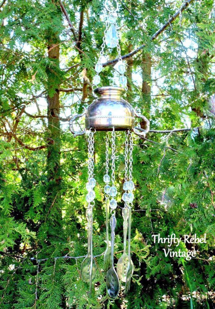 How To Make A Sweet Sounding Silver Sugar Bowl Wind Chime Tutorial