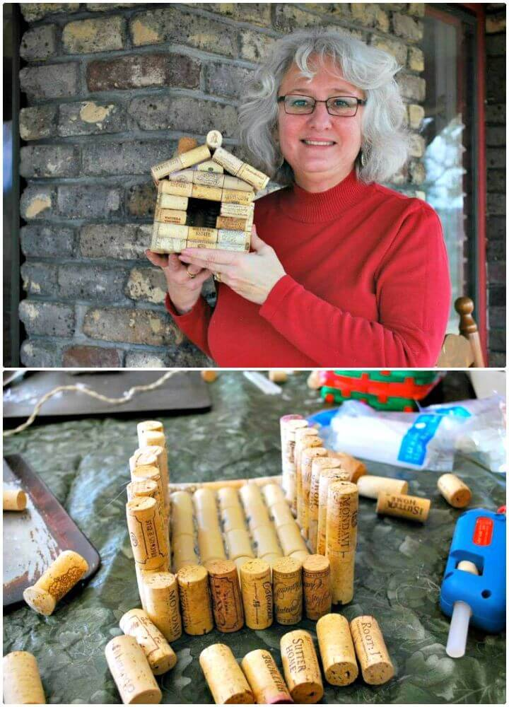 How to Recycle Wine Corks to Make a Birdhouse Tutorial