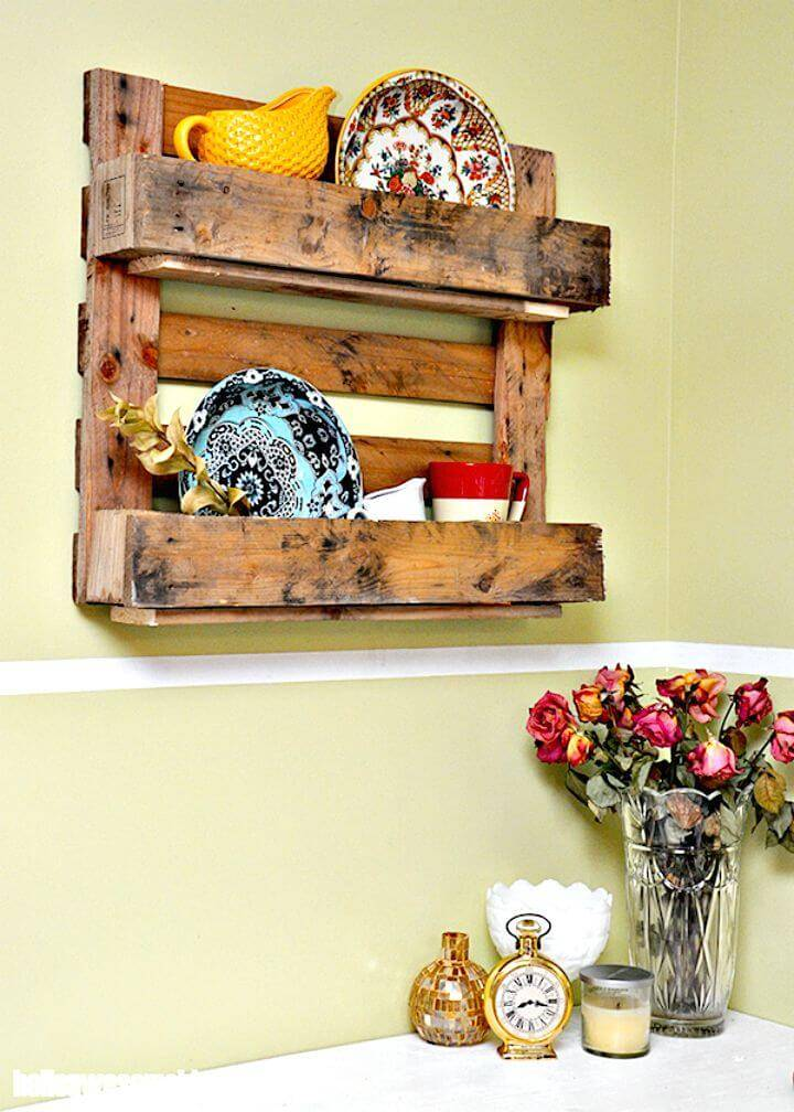 How to Make A Decorative Pallet Shelf - DIY