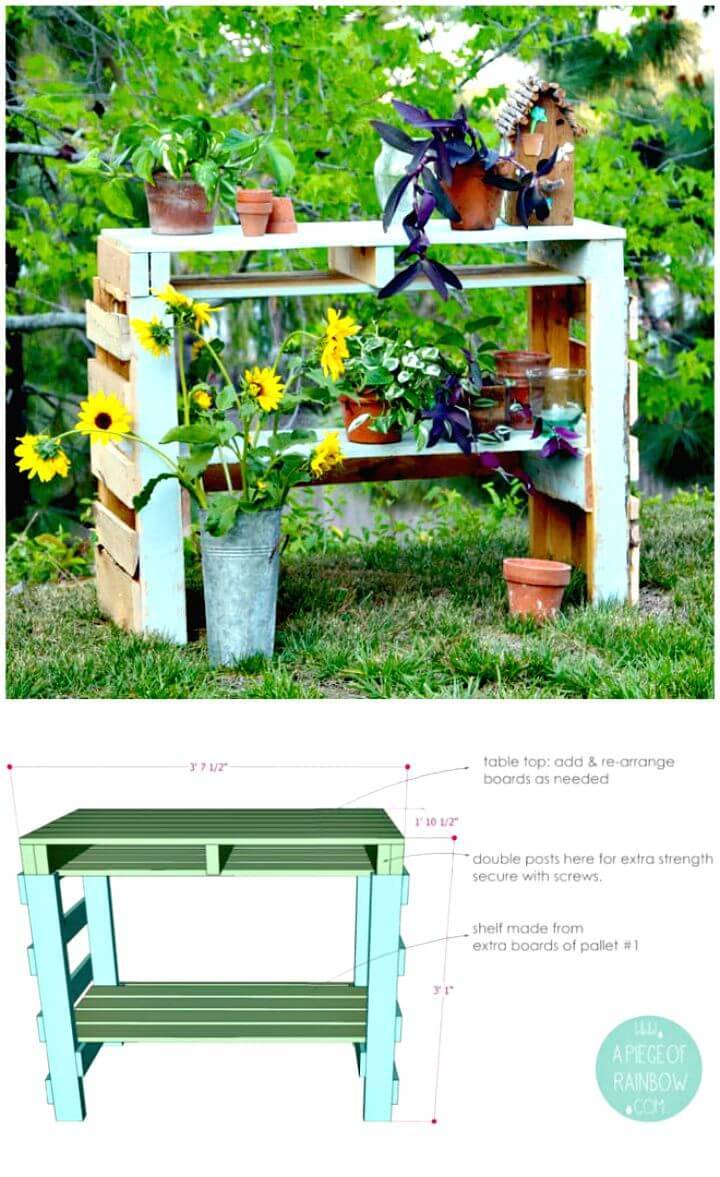How to Make A Two Pallet Potting Bench - DIY