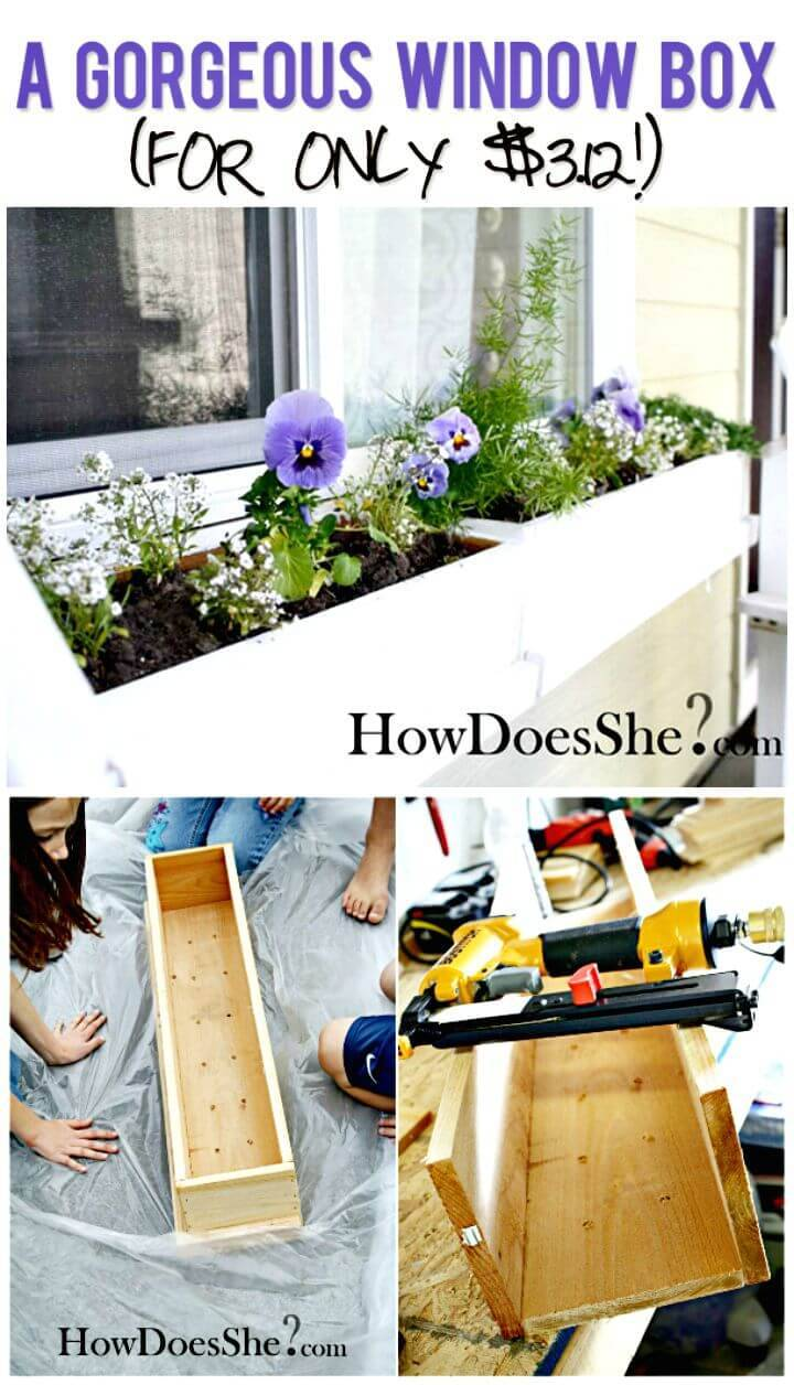 Gorgeous How To Make a Window Planter Box Tutorial