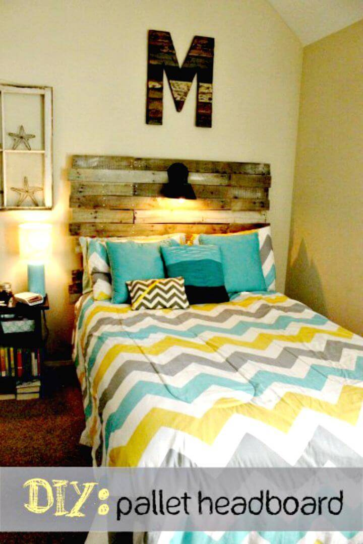 How to Make a Headboard Out of Old Pallets - DIY