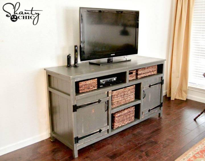 Quick and Easy DIY TV Console Tutorial
