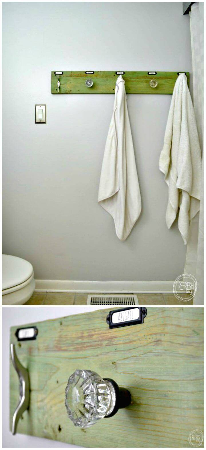 DIY Rustic Industrial Towel Rack Tutorial