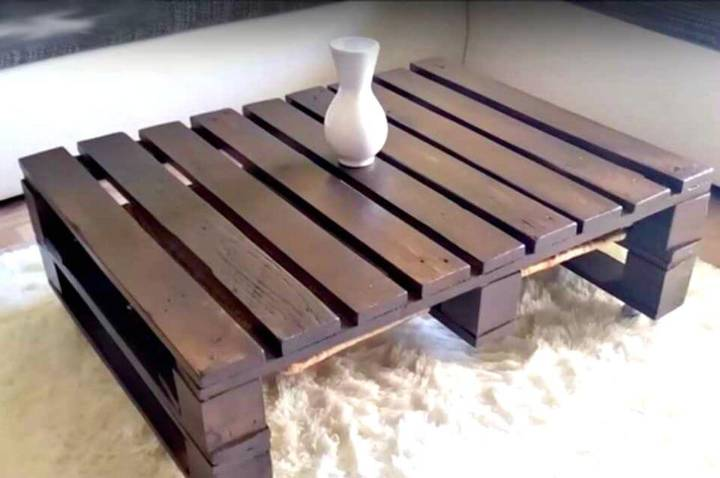 Simple and Easy DIY Pallet Coffee Table Tutorial