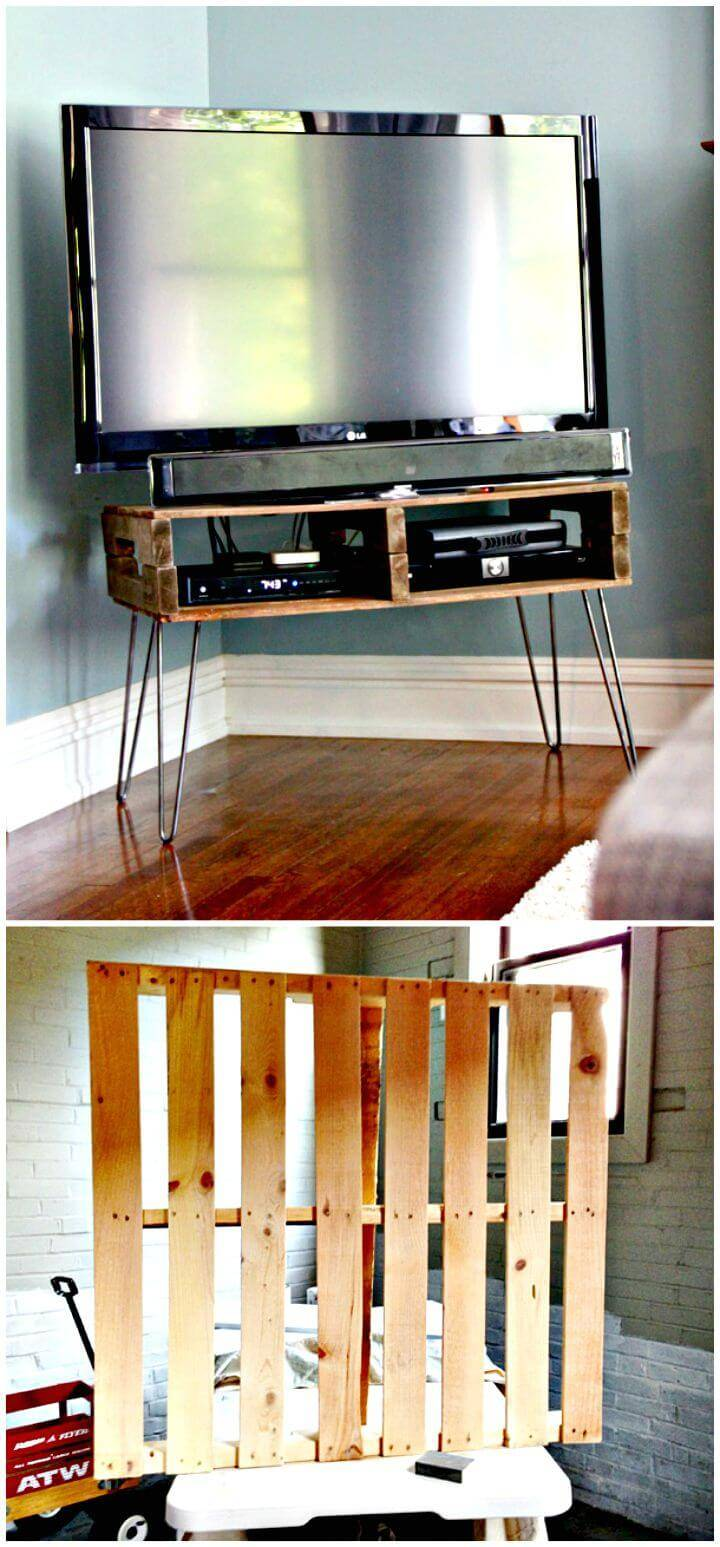 Simple and Functional DIY Pallet TV Stand Tutorial