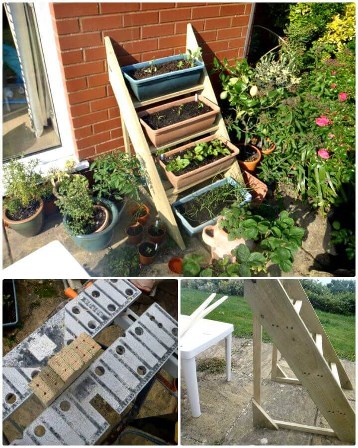 Simple DIY Planter Ladder Tutorial