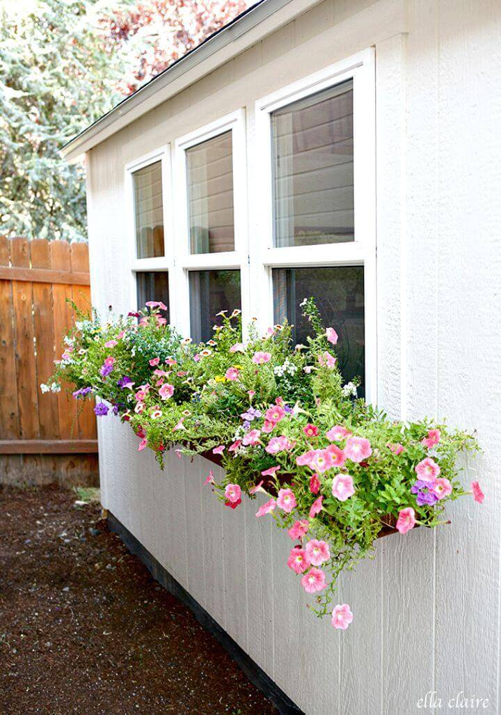 diy window planter box ideas 14 easy step by step plans diy crafts. Black Bedroom Furniture Sets. Home Design Ideas