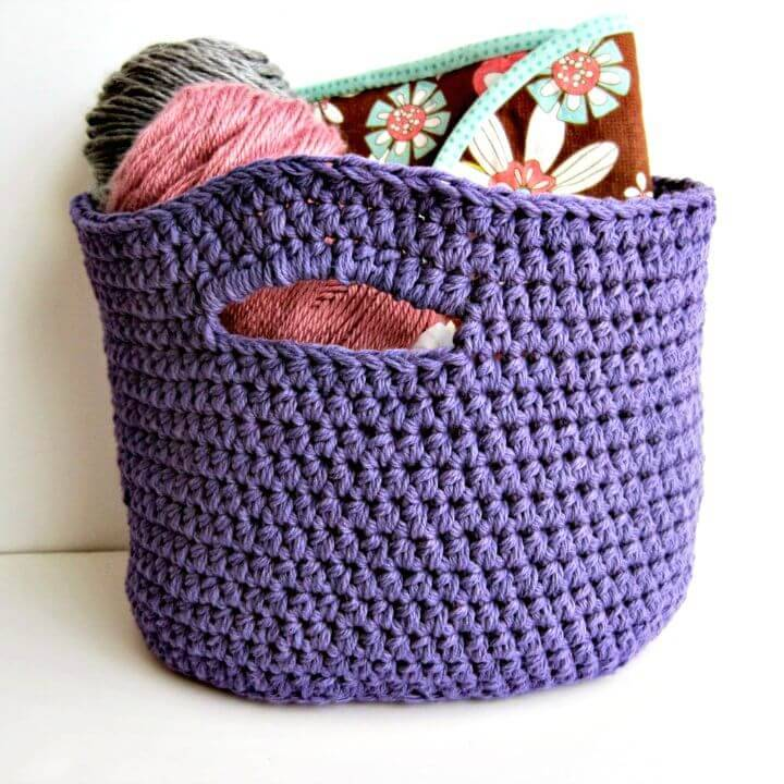 Simple and Easy Free Crochet Basket Pattern