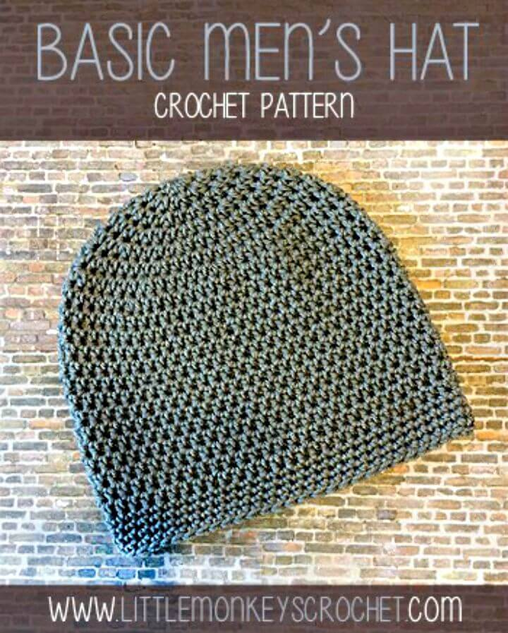 Super Easy Free Crochet Hat For Men Pattern