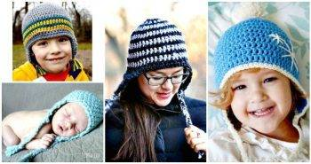 14 Free Crochet Earflap Hat Patterns - Free Crochet Patterns - DIY Crafts - DIY Projects
