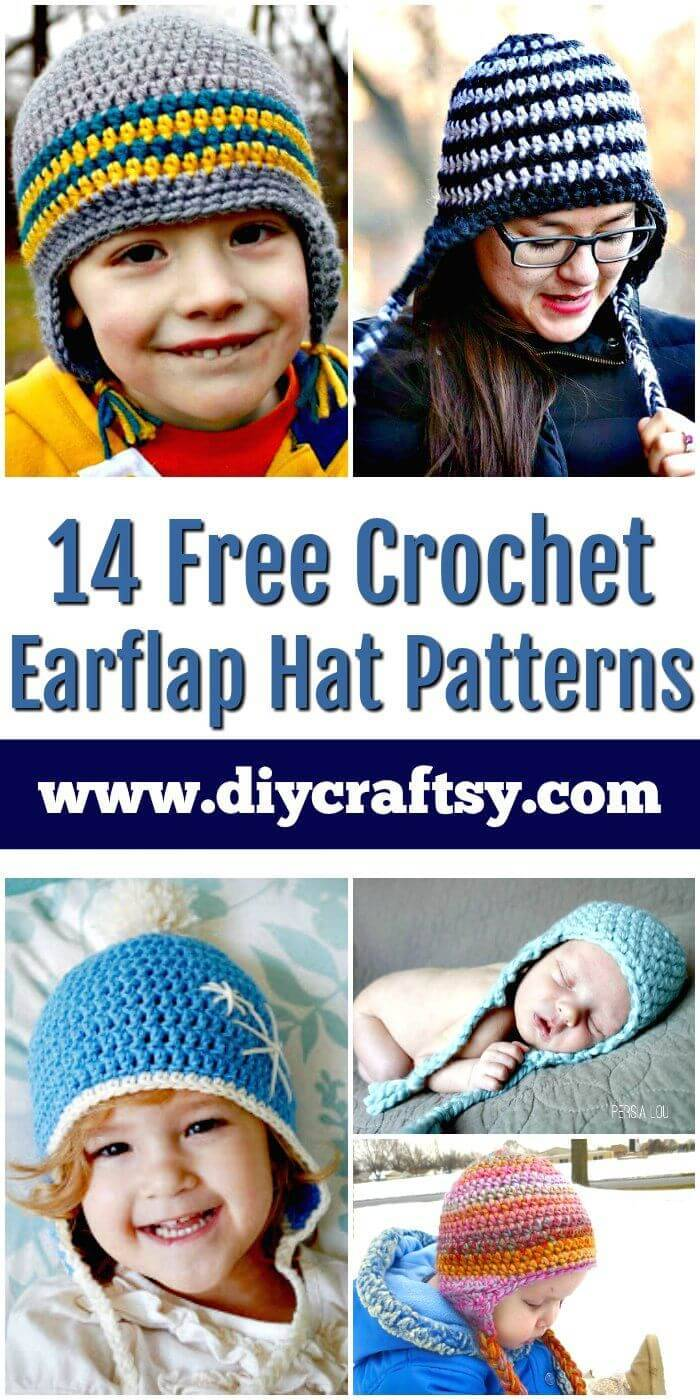 14 Free Crochet Earflap Hat Patterns Diy Crafts
