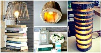 15 Unique DIY Lamp Ideas To Light up Your Home Creatively - DIY Home Decor Ideas - DIY Projects - DIY Craft Ideas