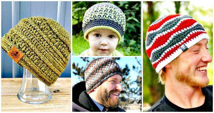 0bafcc32777 20 Free Crochet Hat Patterns That Adorable For Men s - DIY   Crafts
