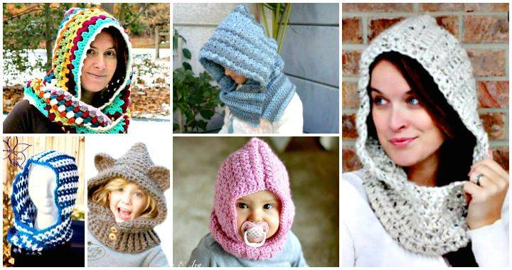 28 Free Crochet Hooded Cowl Patterns - Free Crochet Patterns - DIY Crafts