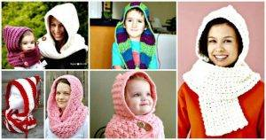 31 Free Crochet Hooded Scarf Patterns