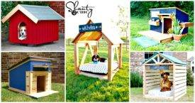 45 Easy DIY Dog House Plans & Ideas You Should Try This Season - DIY Projects - DIY Crafts