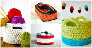 45 Free Crochet Basket Patterns for Beginners - Free Crochet Patterns - DIY Crafts - DIYCraftsy