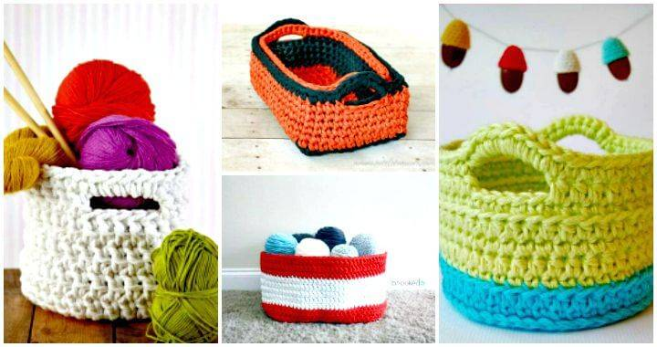 45 Free Crochet Basket Patterns for Beginners - Free Crochet Patterns - DIY Crafts - DIYCraftsy