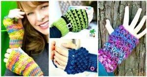 54 Free Crochet Fingerless Gloves Pattern for Beginners
