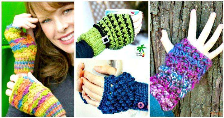 54 Free Crochet Fingerless Gloves Patterns for Beginners - Free Crochet Patterns - DIY Crafts - DIY Projects