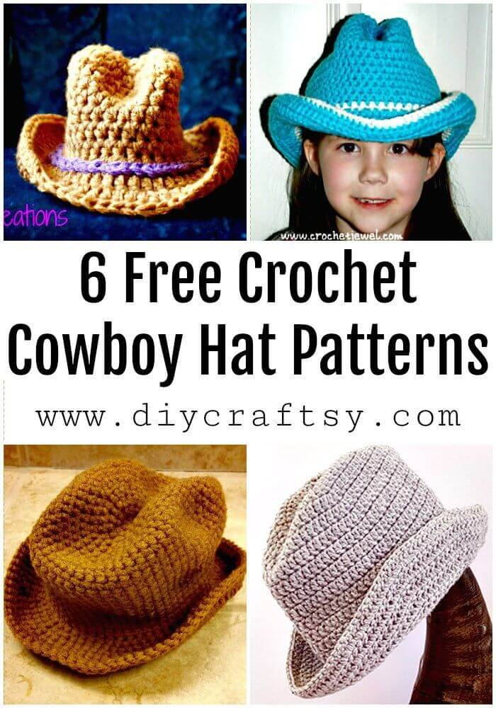 6 Free Crochet Cowboy Hat Patterns - Free Crochet Patterns - DIY Crafts