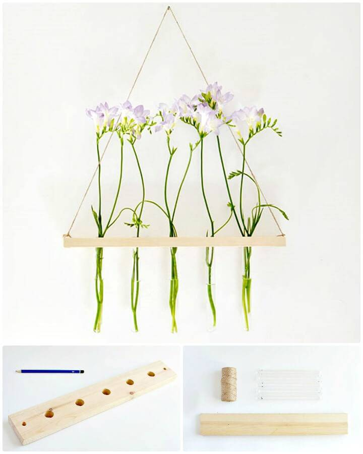 Adorable How to DIY Hanging Flower Display