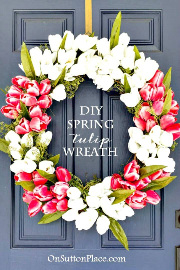 Beautiful DIY Spring Tulip Wreath - Step By Step Tutorial