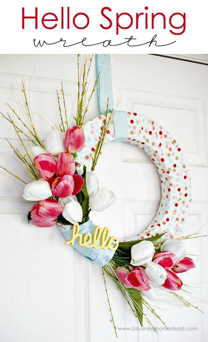Beautiful and Adorable DIY Spring Wreath Tutorial