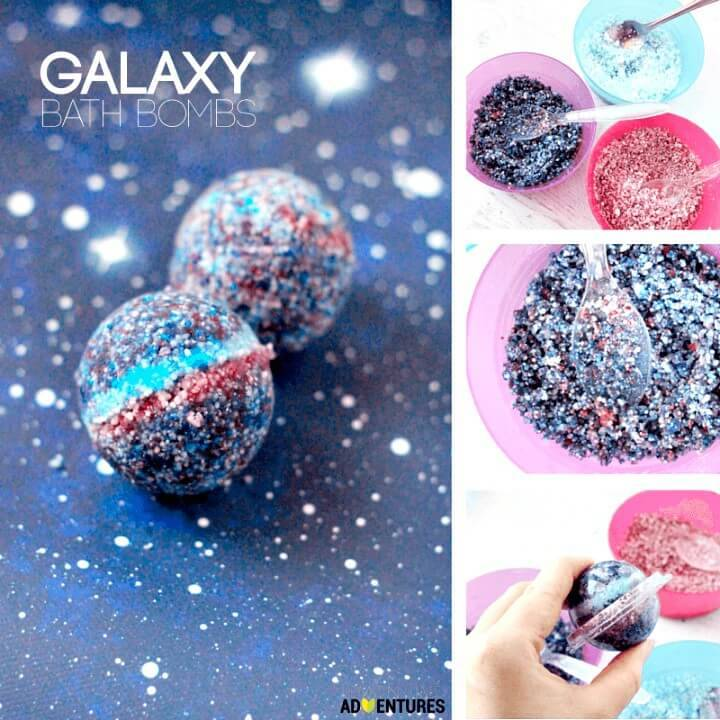 Super Easy and Simple DIY Galaxy Bath Bombs Tutorial