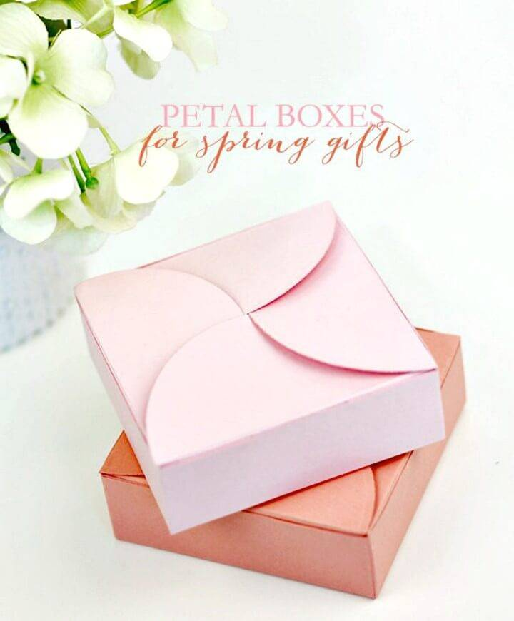 How To Make Pretty Petal Boxes For Spring