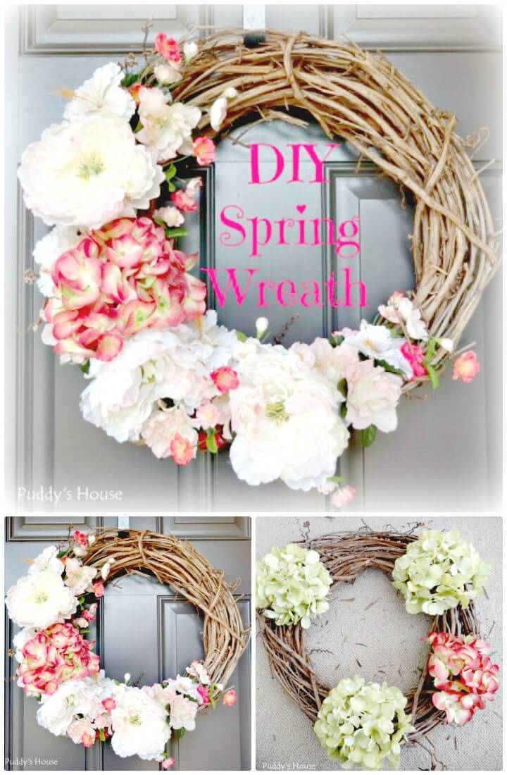 Beautiful DIY Spring Wreath Tutorial