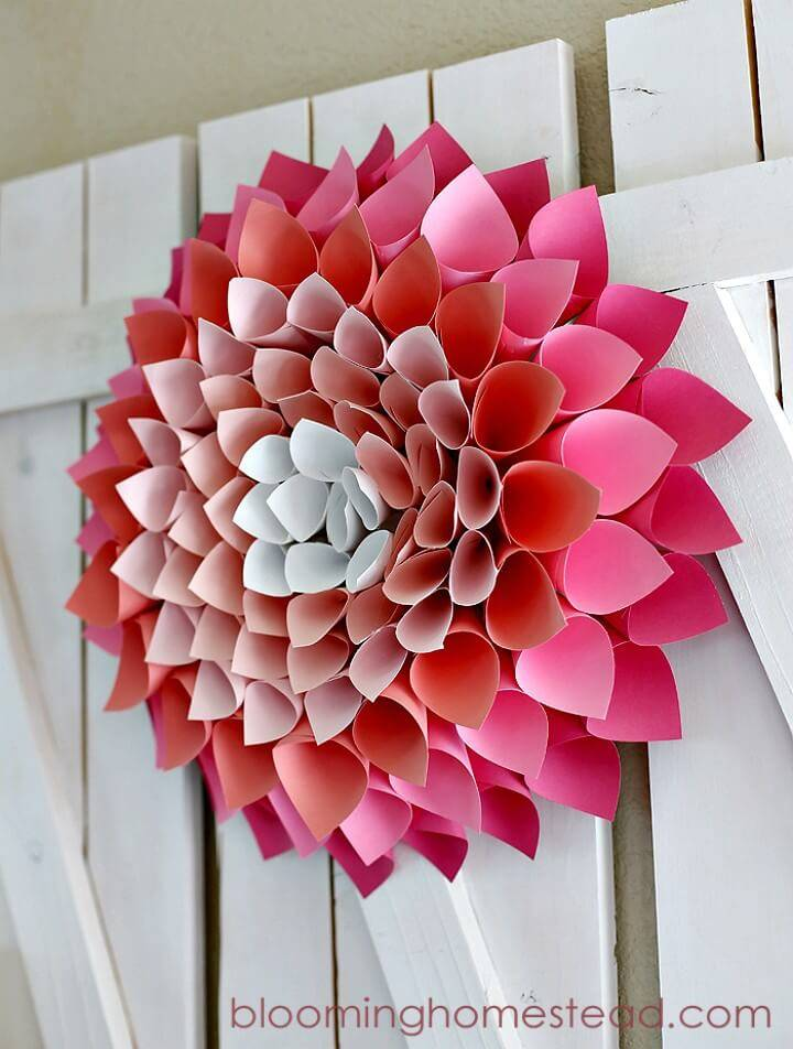 Easy How To Make Spring Wreath