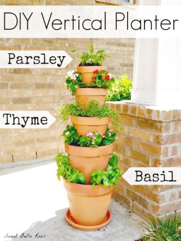 Build Vertical Planter In Garden - DIY