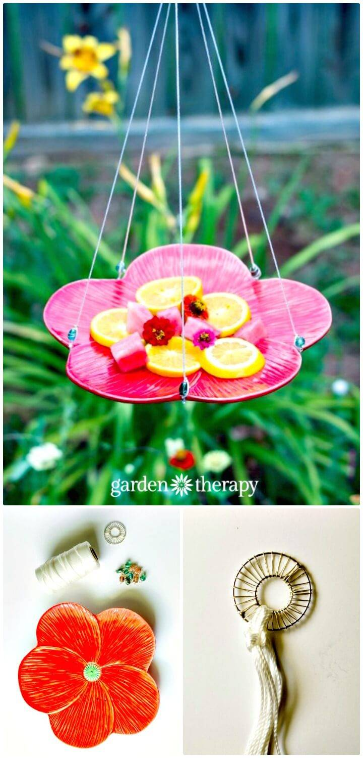 Build a Butterfly Feeder In Garden - DIY