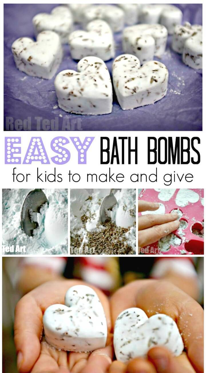 Cute DIY Bath Bomb Recipe - Gifts Kids Can Make