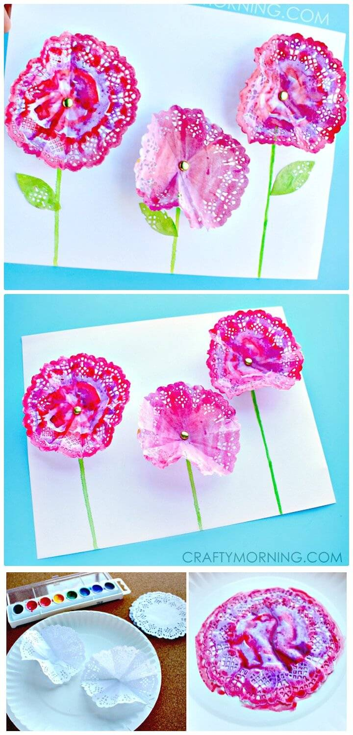 Easy DIY 3D Doily Flowers - Spring Craft for Kids
