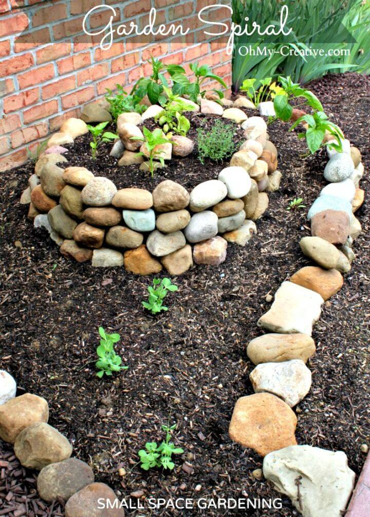 DIY Small Vegetable Garden Using A Garden Spiral