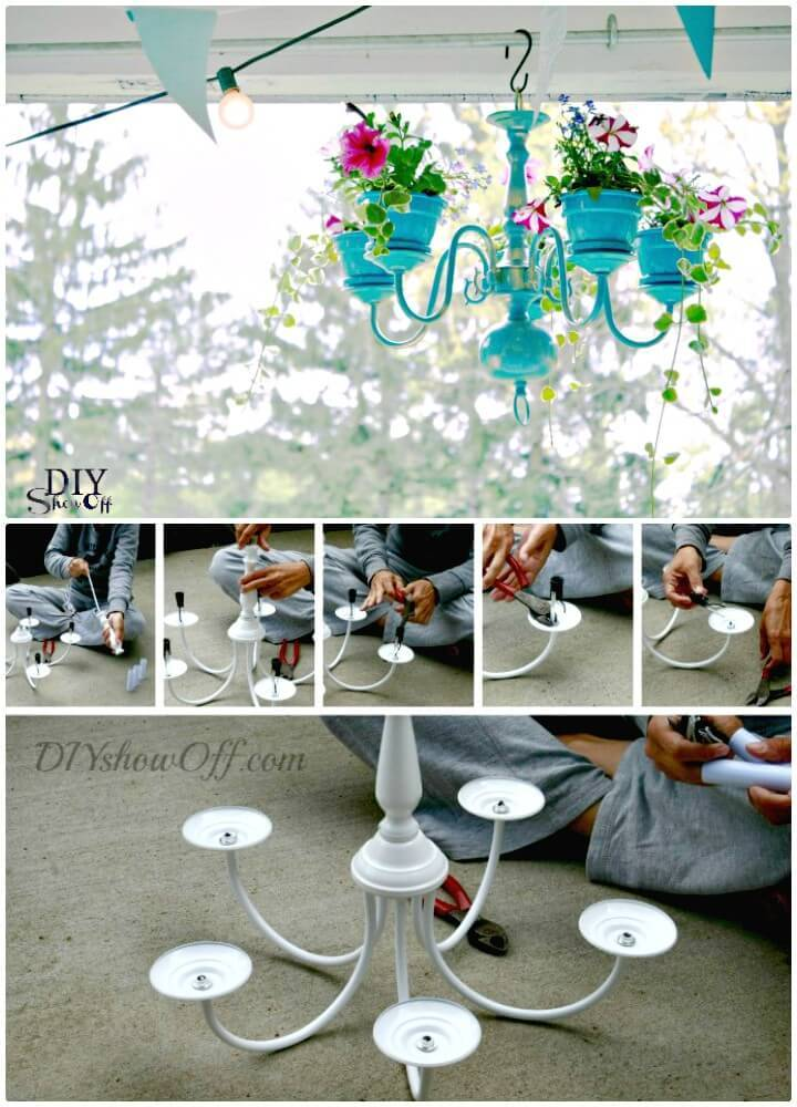 DIY Chandelier Planter Tutorial