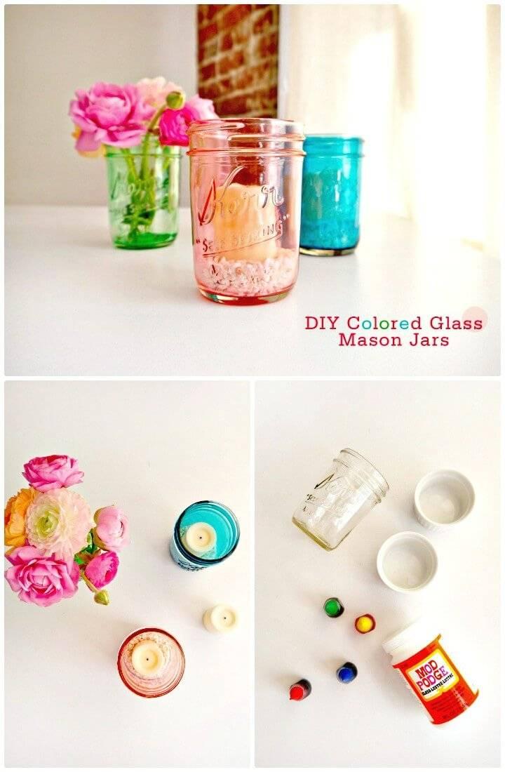 DIY Colored Glass Mason Jars - Mason Jars Crafts