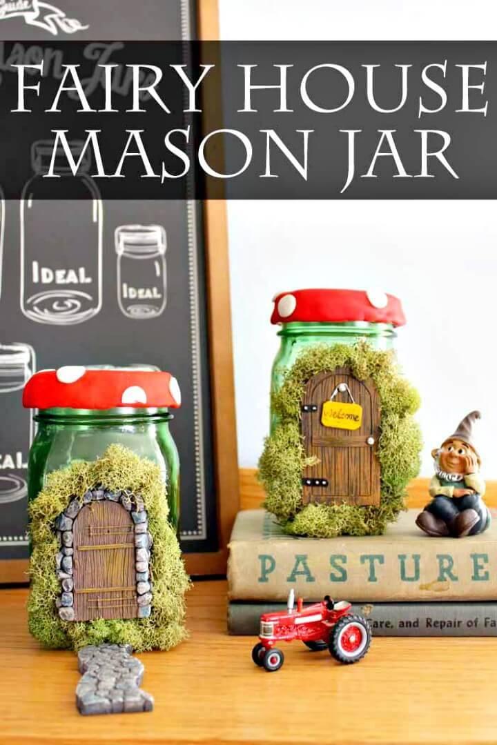 DIY Fairy House Mason Jar - A Fun Spring Craft Idea