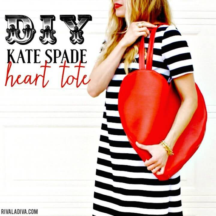 Easy and Adorable DIY Kate Spade Inspired Heart Tote Tutorial