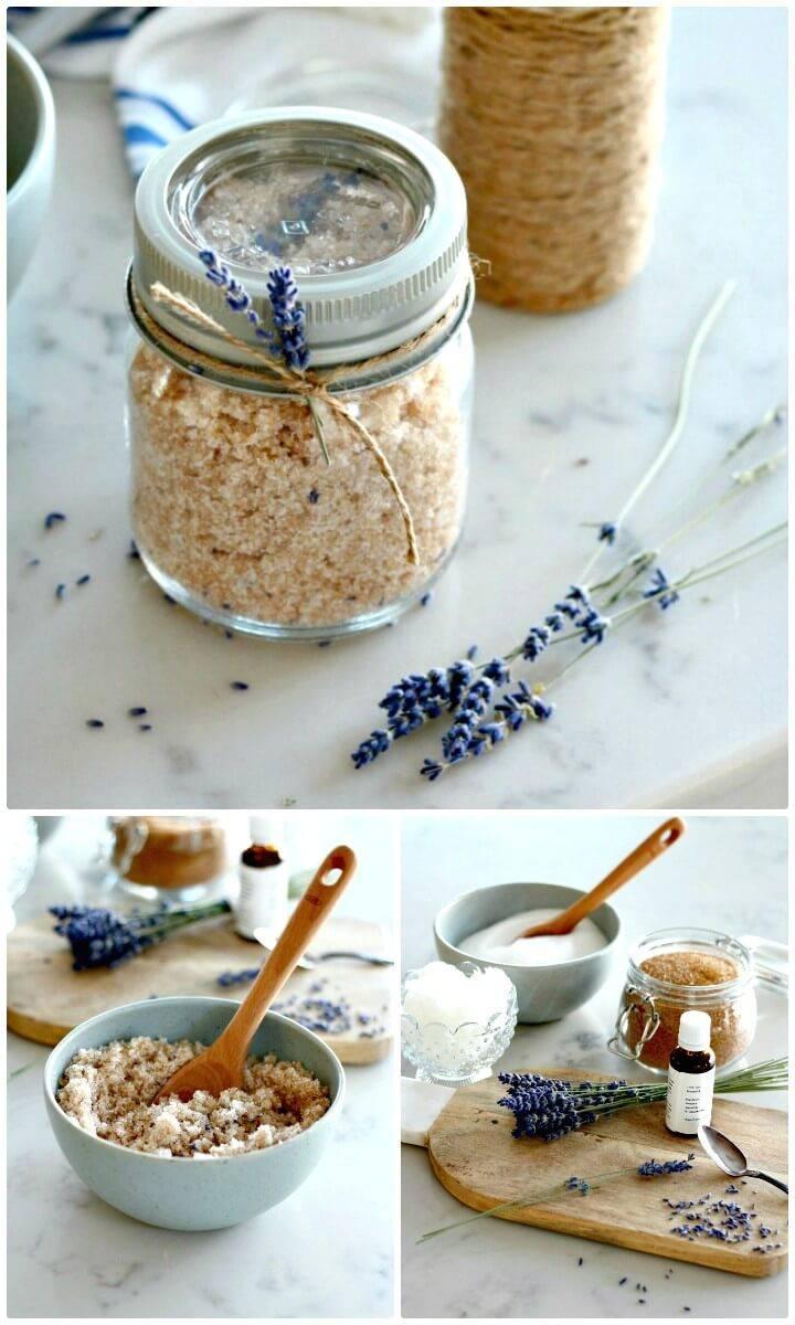 DIY Lavender Sugar Scrub - Handmade Gift
